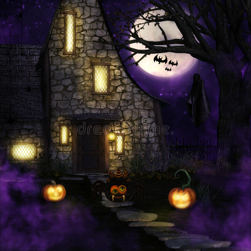 Spin Halloween royalty-vrije illustratie