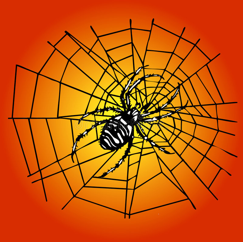 Spin in het Web royalty-vrije illustratie