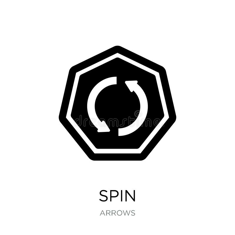 Free Spin Icon In Trendy Design Style. Spin Icon Isolated On White Background. Spin Vector Icon Simple And Modern Flat Symbol For Web Stock Photos - 135749873