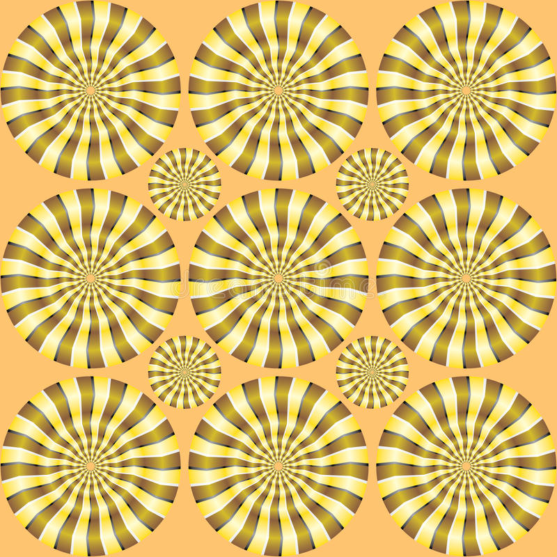 Spin illusion royalty free illustration