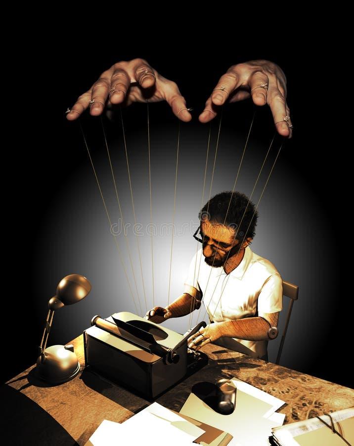 Spin journalism royalty free illustration