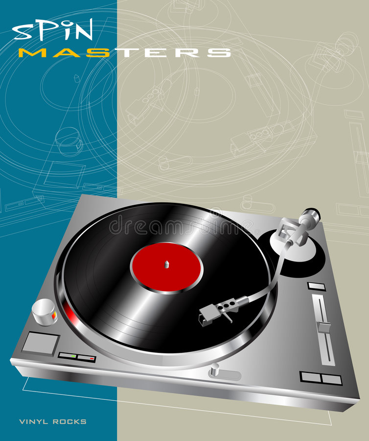 Download Spin Masters stock vector. Image of beats, disco, celebration - 2853719