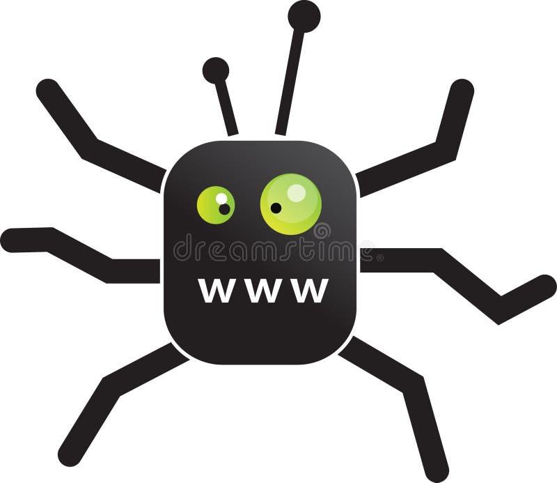 Spin WWW stock illustratie