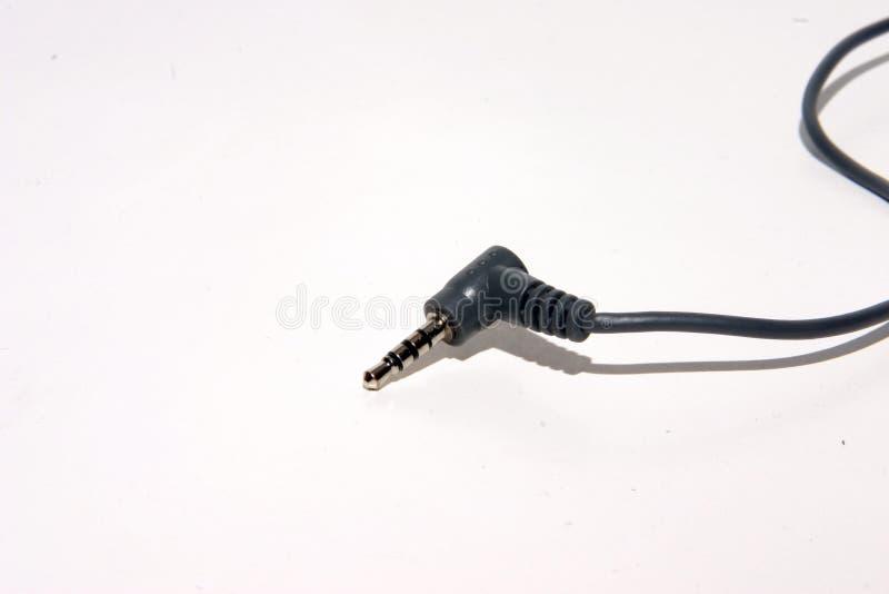 Spina del trasduttore auricolare fotografia stock
