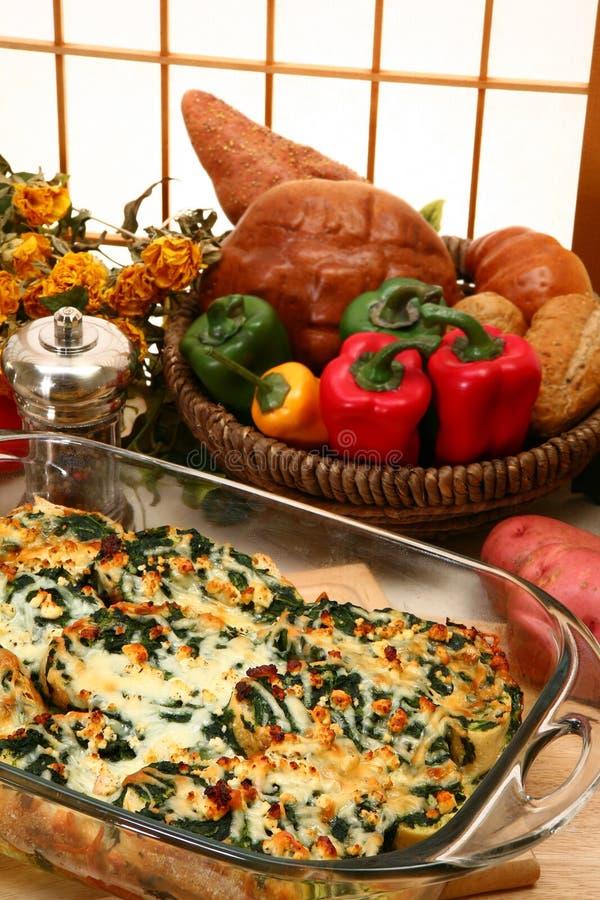 Free Spinach Feta Strata Bake Royalty Free Stock Image - 5355186