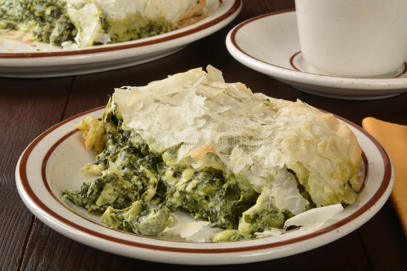 Spinach and Kale Pie royalty free stock image