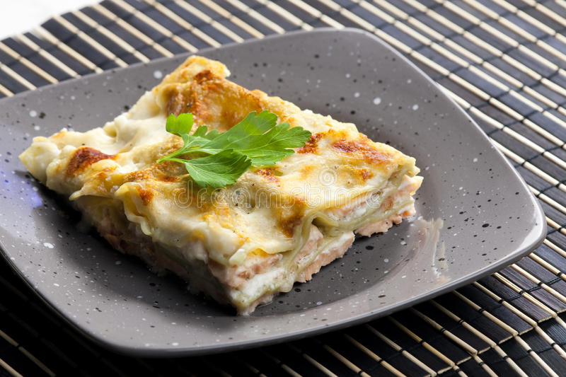 Spinach Lasagne Stock Image