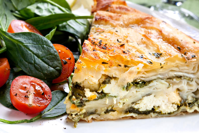 Download Spinach Pie stock image. Image of focus, spinach, spanakopita - 10631487