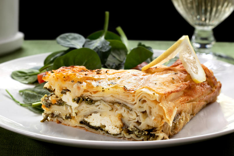 Download Spinach Pie stock image. Image of plate, slice, nobody - 11627869