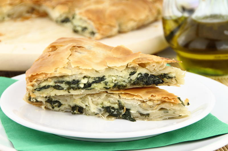 Spinach pie royalty free stock photography