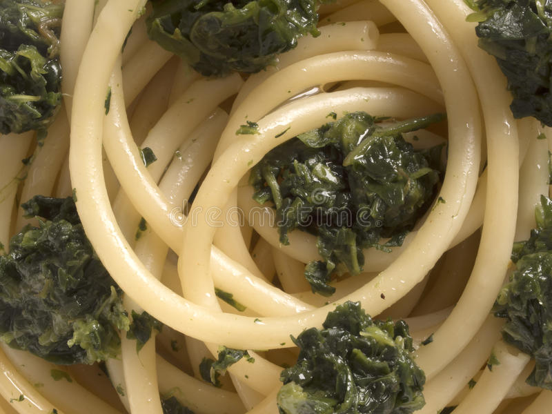 Download Spinach spaghetti pasta stock photo. Image of gourmet - 31354234