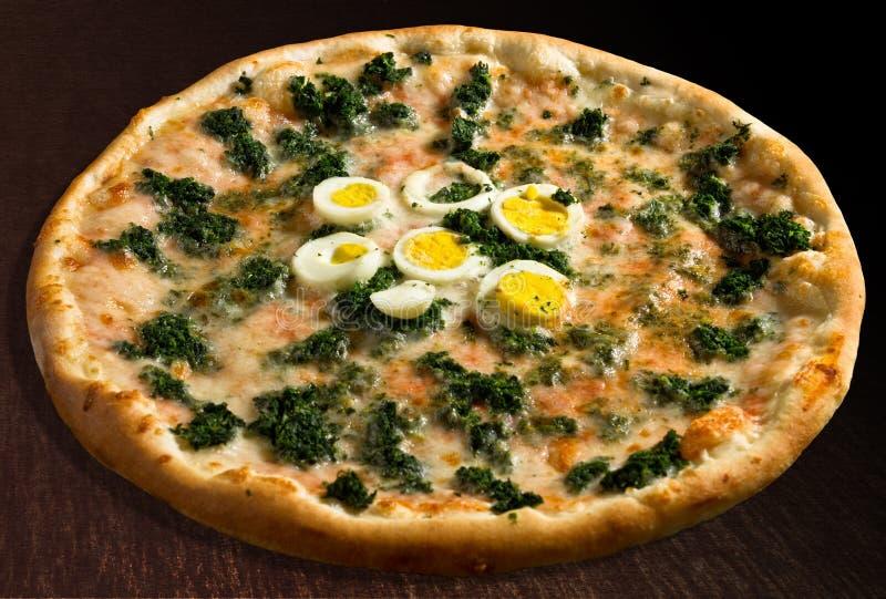 Spinaci van de pizza royalty-vrije stock afbeeldingen