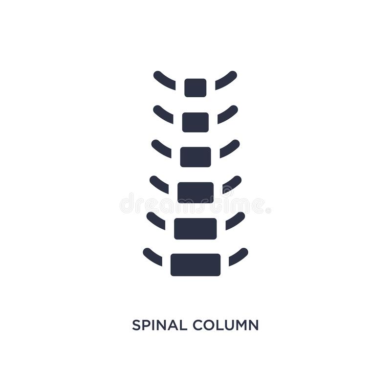spinal column icon on white background. Simple element illustration from medical concept vector illustration