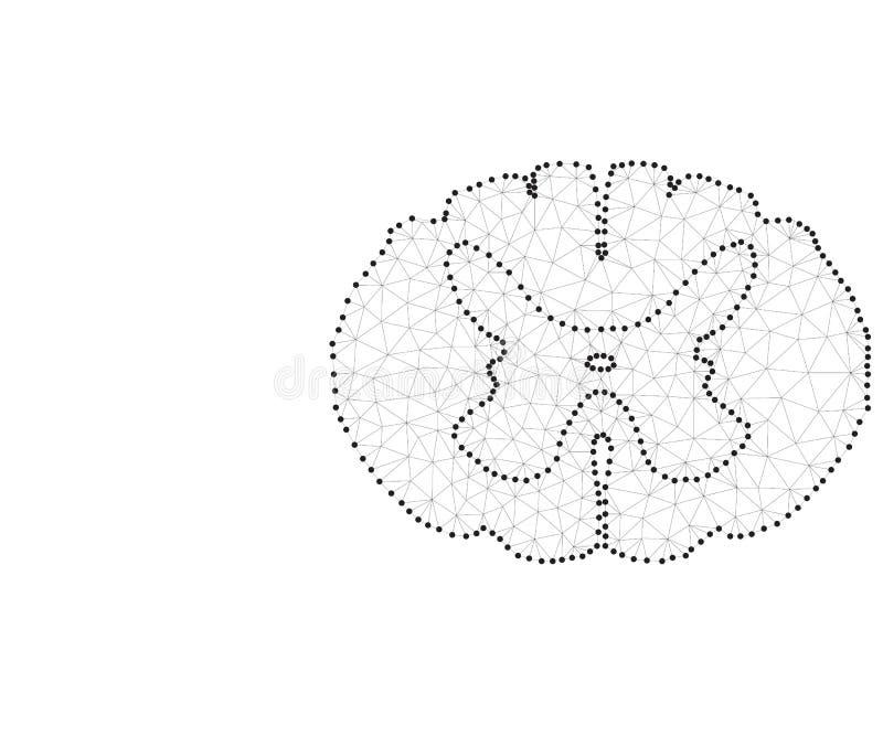 Spinal cord polygon black-white stock illustration