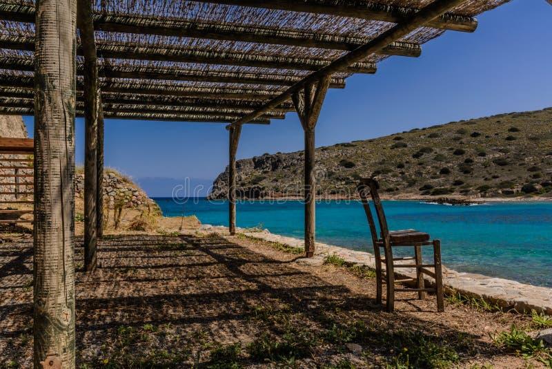 Spinalogga en Creta imagen de archivo
