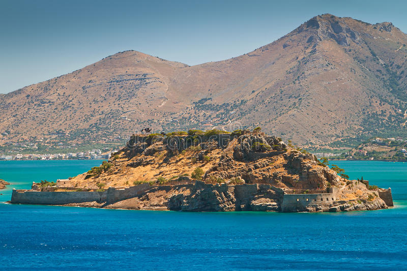 Spinalonga海岛的,克利特麻疯病患者殖民地 免版税库存照片