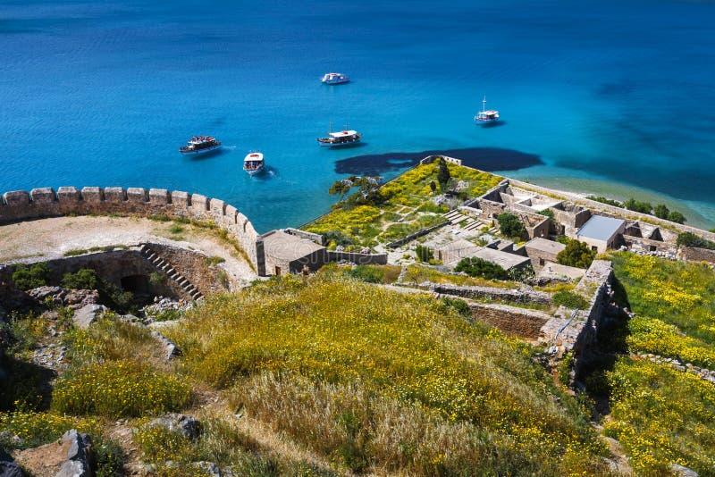 spinalonga της Κρήτης στοκ εικόνες