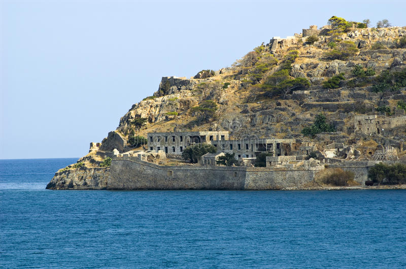 spinalonga royaltyfria bilder
