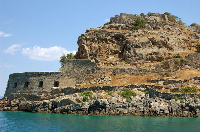 Spinalonga, Crète photo stock