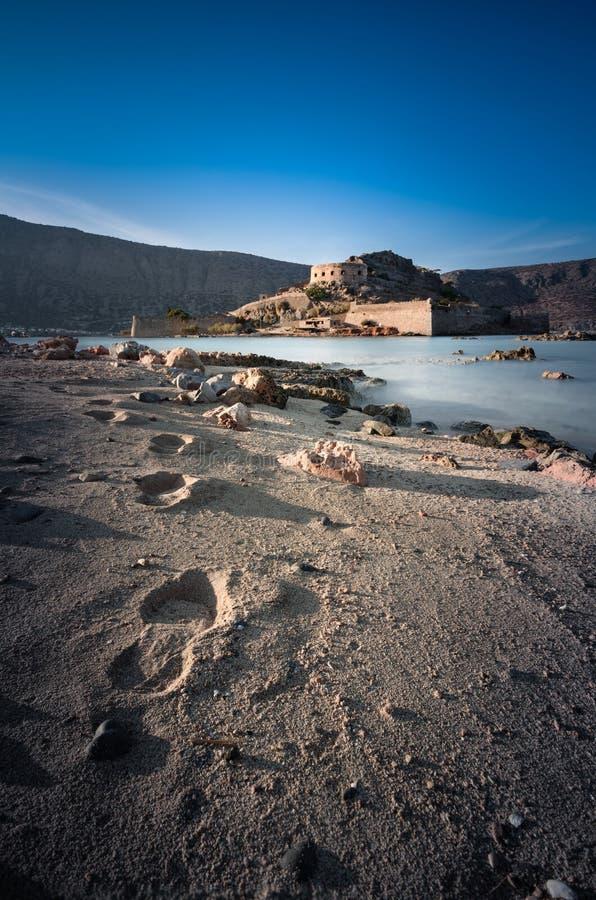 Spinalonga, Crète image stock