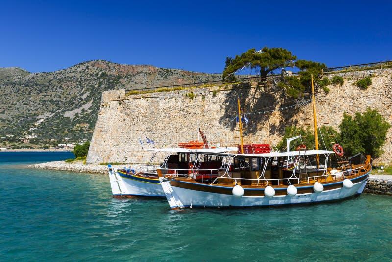 Spinalonga, Crète photos stock