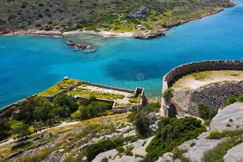 Spinalonga, Crete fotografía de archivo