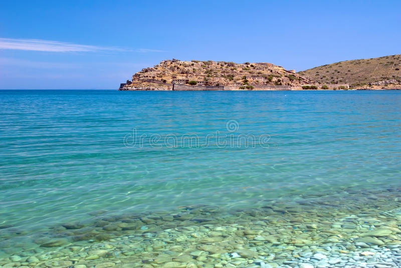 Download Spinalonga Island stock image. Image of beach, blue, coastline - 9901023