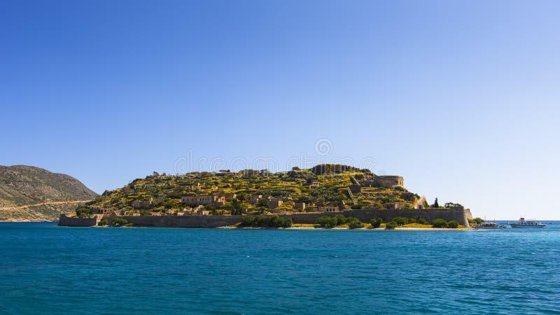 Spinalonga, Kreta stock afbeeldingen