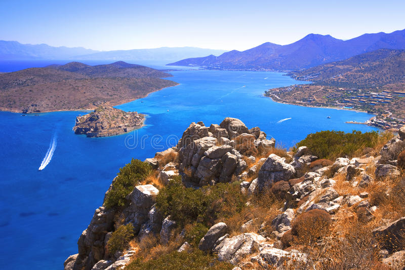 Download Spinalonga. Mirabello Bay. stock image. Image of culture - 15068641