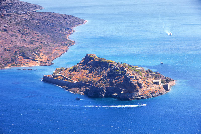 Download Spinalonga. Mirabello Bay. stock image. Image of lasithi - 15068661