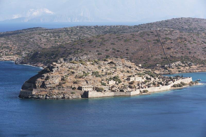 Spinalonga wyspa Crete, Geece zdjęcia stock