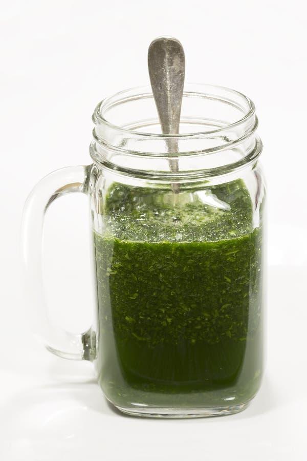 Spinat smoothy lizenzfreies stockfoto