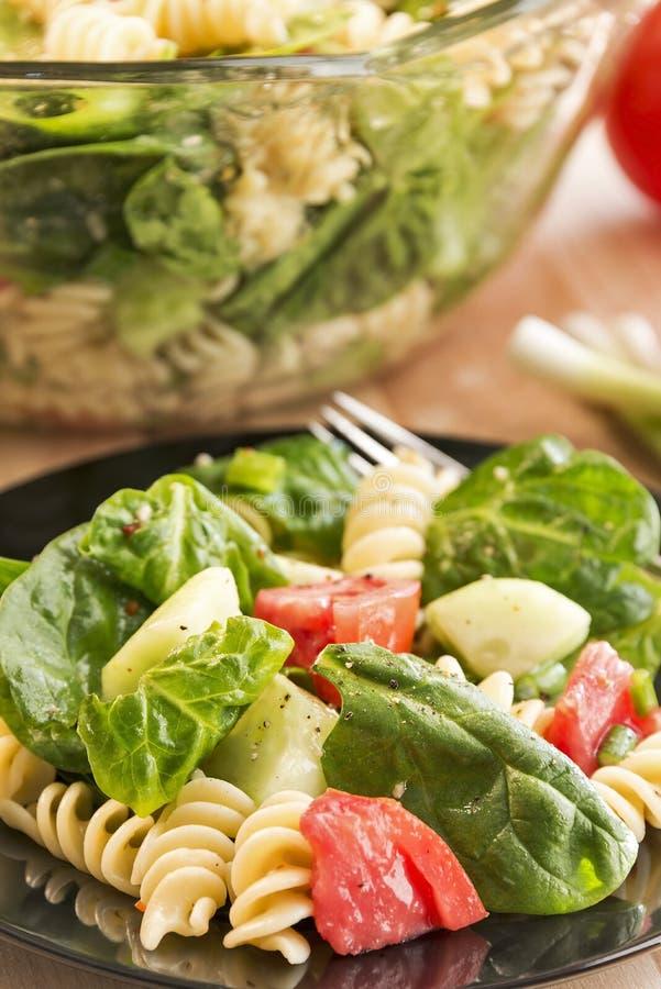 Download Spinazie En Rotinideegwarensalade Stock Foto - Afbeelding bestaande uit cuisine, deegwaren: 39102708