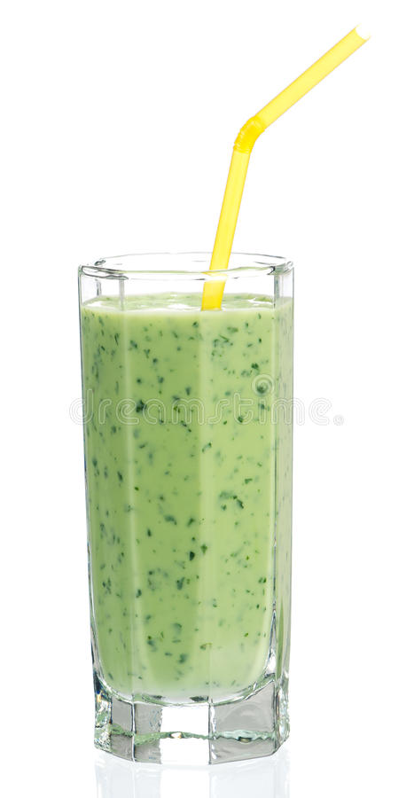 Spinazie smoothie stock afbeeldingen