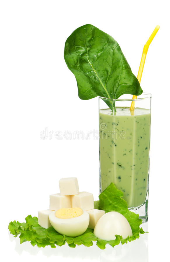 Spinazie smoothie stock afbeelding