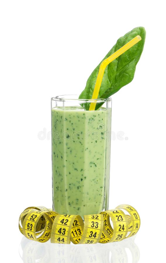 Spinazie smoothie royalty-vrije stock foto