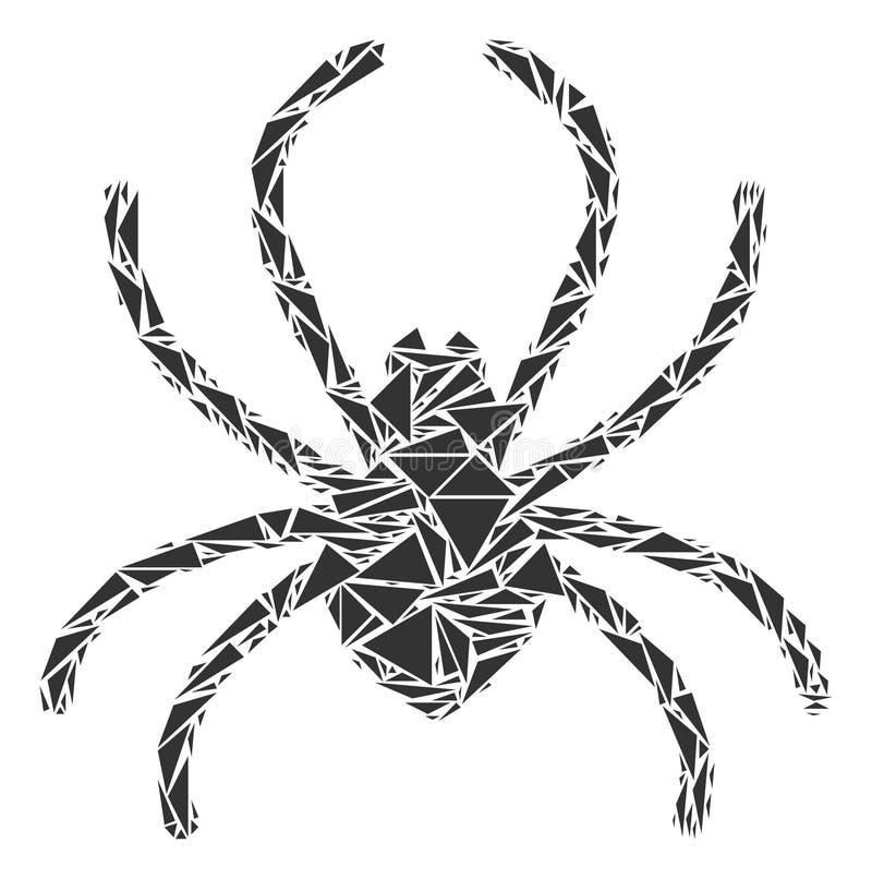 Spincollage van Driehoeken vector illustratie