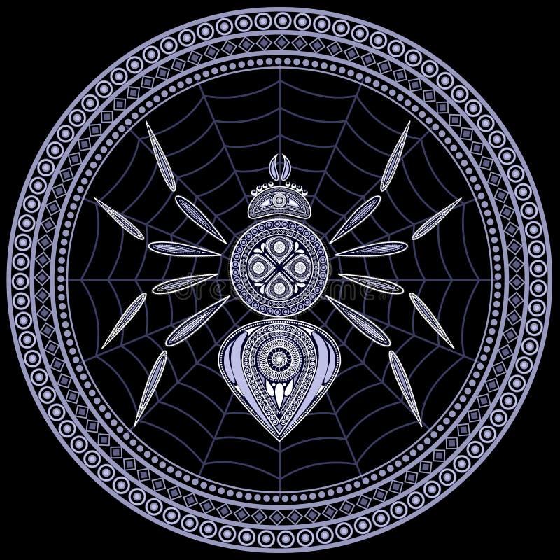 spindel vektor illustrationer