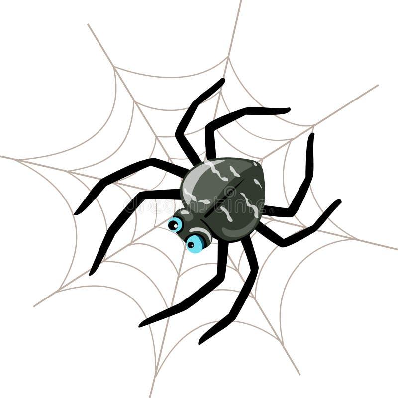 spindel stock illustrationer