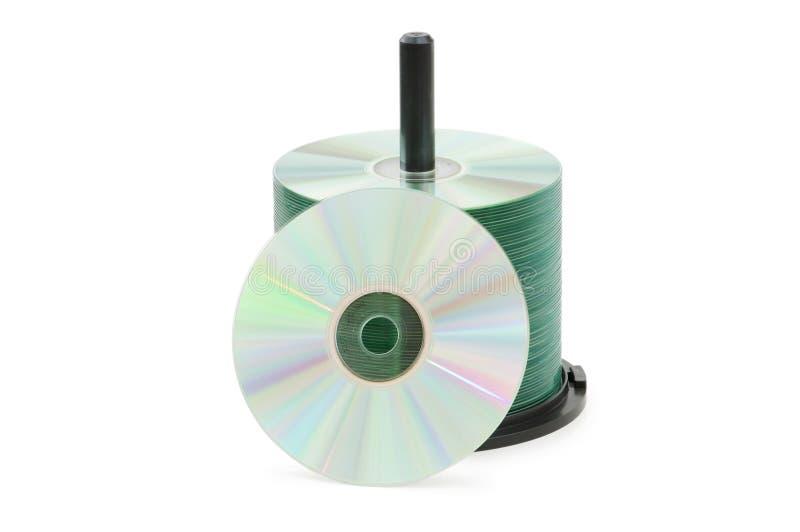 Spindel der cd Platten getrennt stockbild