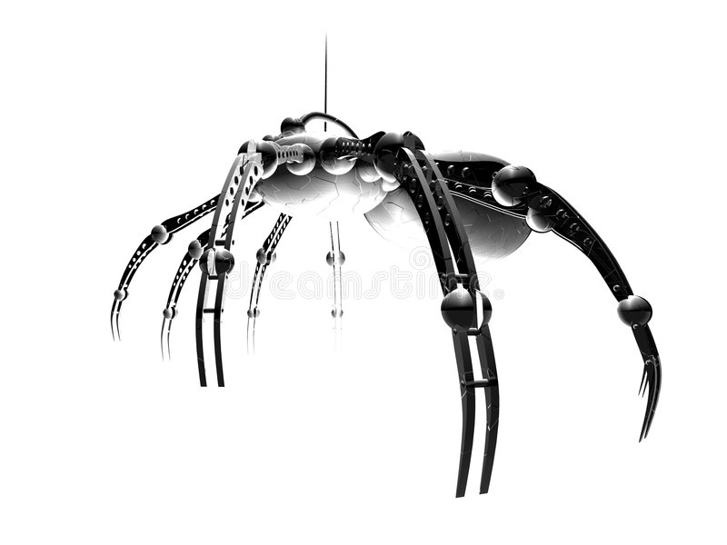 spindel för 3 robot vektor illustrationer