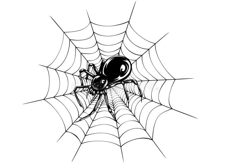 Spindel och rengöringsduk royaltyfri illustrationer