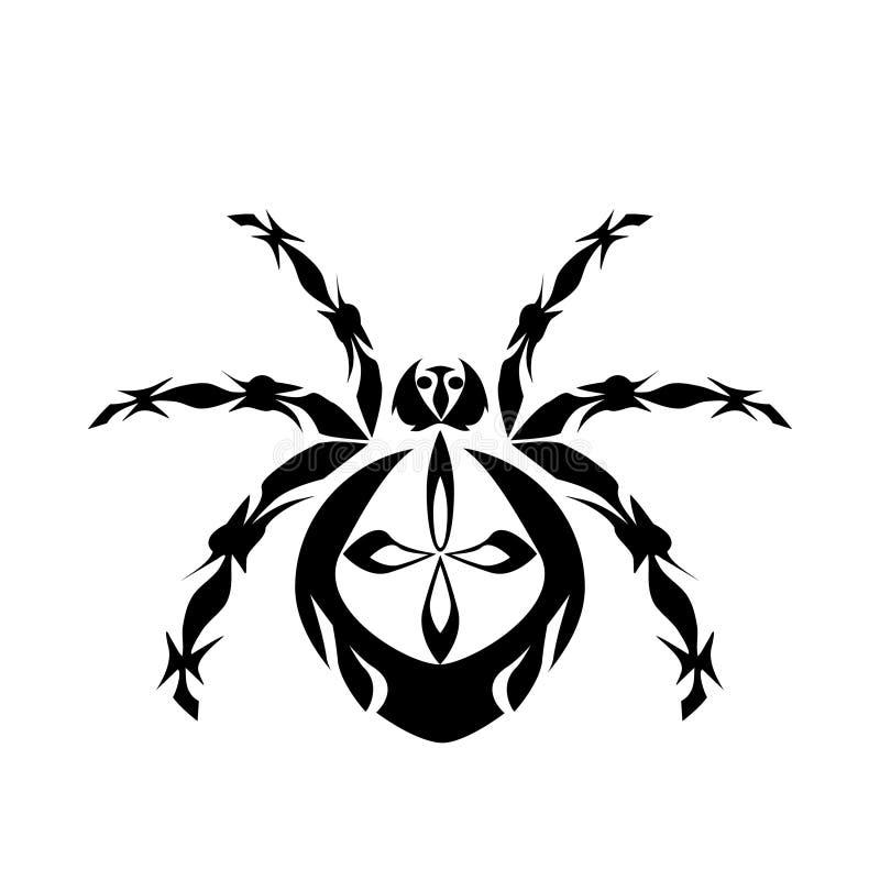 Spindelmodell royaltyfri illustrationer