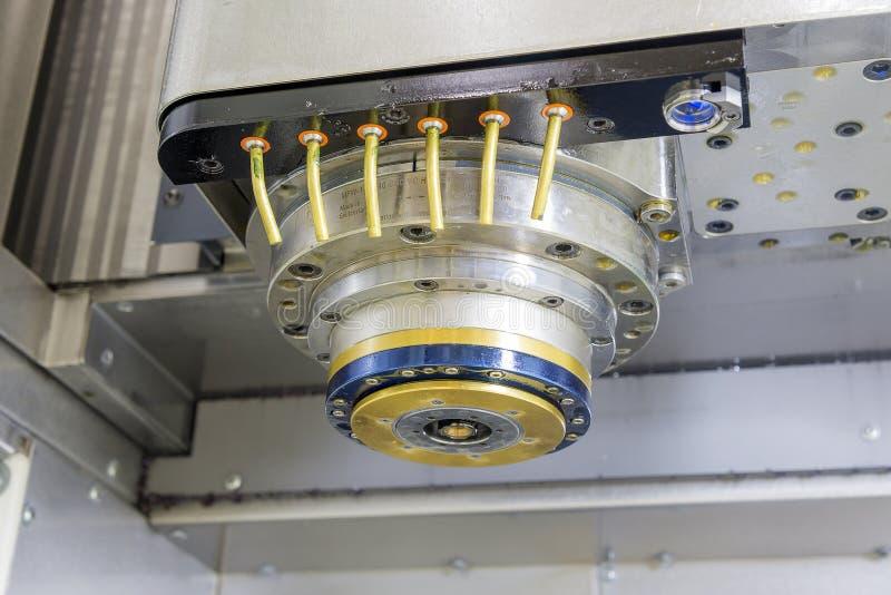 Spindeln av CNC-maskinen royaltyfri bild