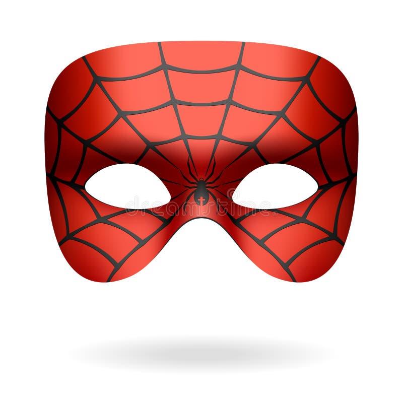 Spindeln maskerar vektor illustrationer