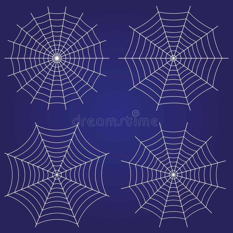 Spindelrengöringsduk, uppsättning av symboler Gullig gotisk stil stock illustrationer
