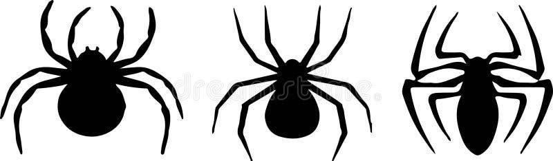 Spindelsymbol p? vit bakgrund vektor illustrationer