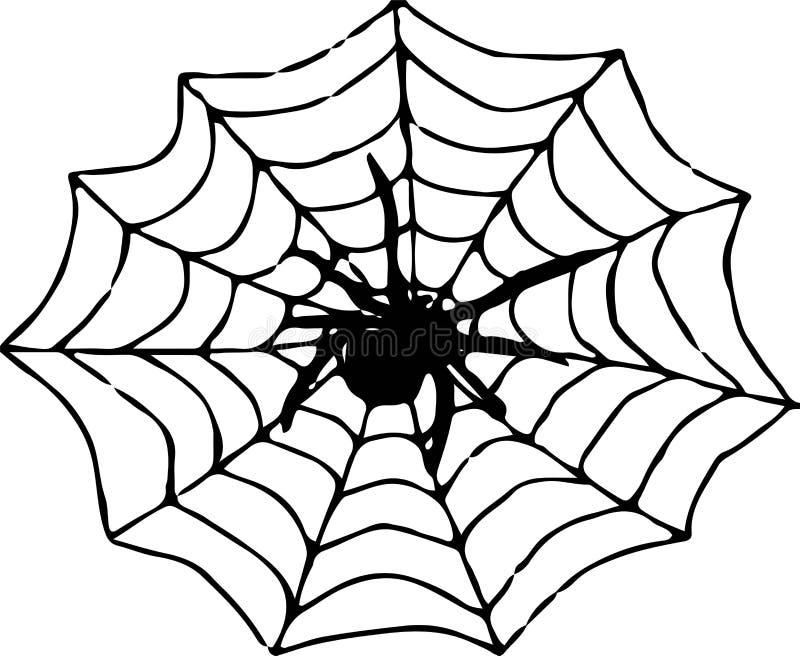 Spindelsymbol p? vit bakgrund royaltyfri illustrationer