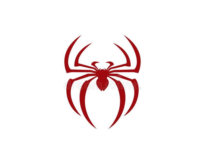 Spindelvektorsymbol stock illustrationer