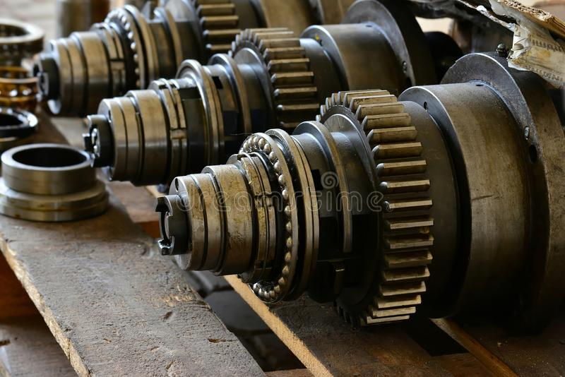 Spindle for the cone of the cutter in disassembled form. Repair of machine tools and equipment. Spindle for the cone of the cutter in disassembled form. Repair stock photos